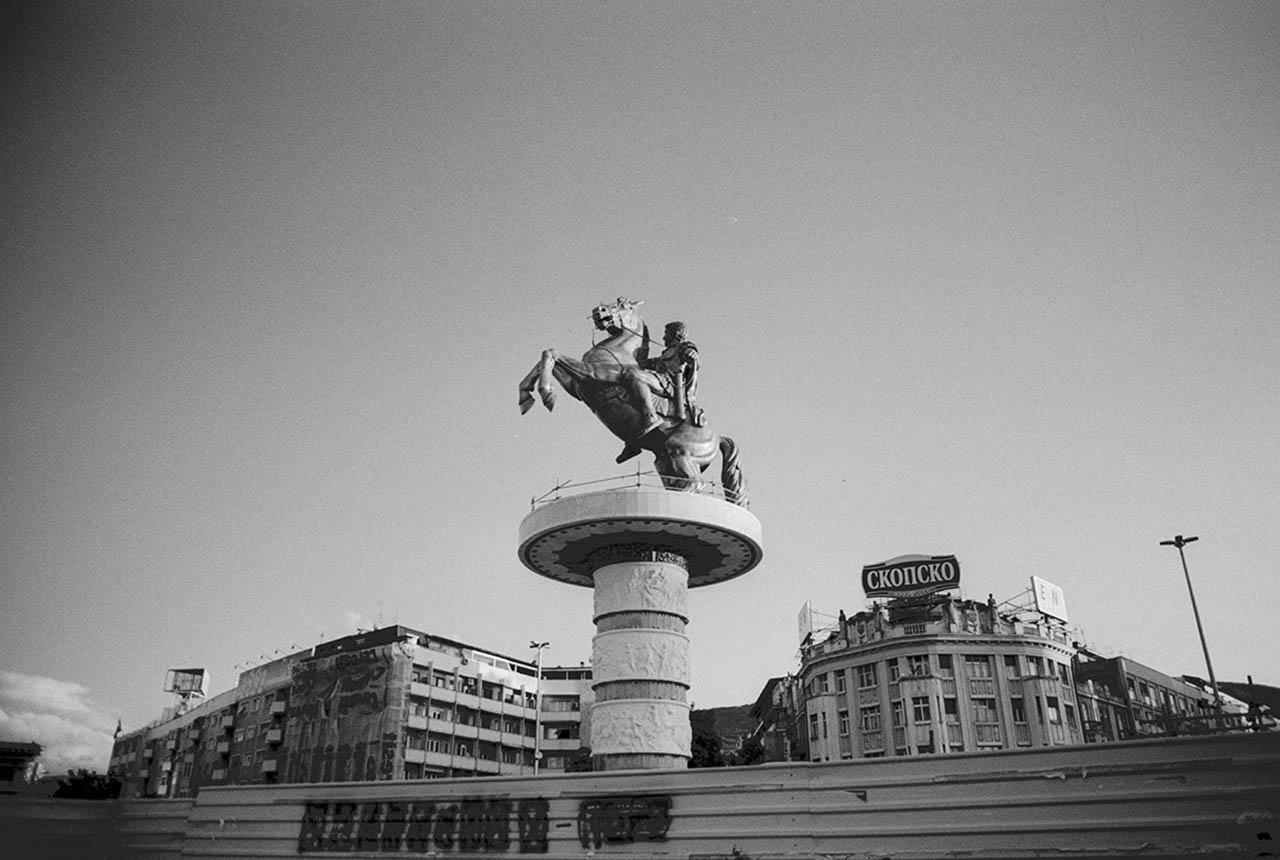 Statue d'Alexandre le grand, Skopje, Macédoine, 2011